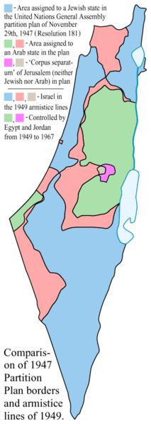 1949 Armistice Map