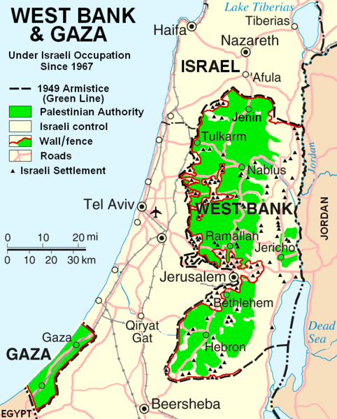 West Bank and Gaza 1967 Onwards